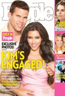 Kim Kardashian Gets Engaged, Flaunts Ginormous 20.5-Carat Ring