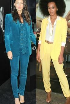 Style Showdown: Jessica Biel's Suit Snafu and More