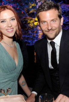 Bradley Cooper and Scarlett Johansson Hold Hands, Sip Champagne