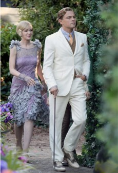 Carey Mulligan, Gemma Ward, and Leo DiCaprio in Costume for The Great Gatsby