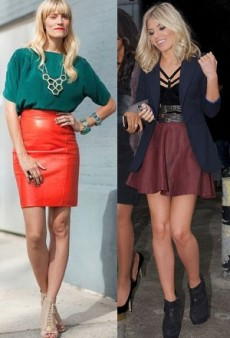 Get the Celeb Look: Leather Skirts