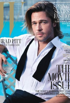 We Get It, You're Handsome. Brad Pitt Poses for W's February Cover (Forum Buzz)