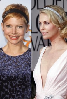 Style Showdown: Deschanel Sisters, Charlize Theron and Others