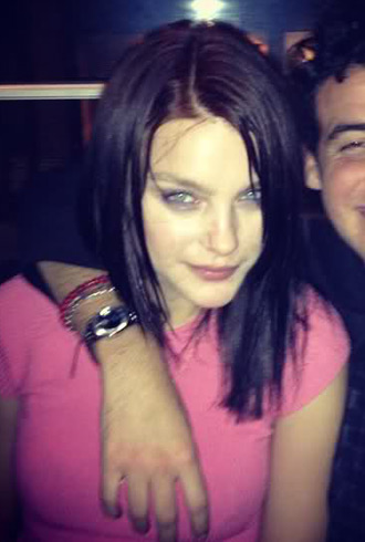 Jessica Stam dark hair