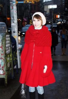 Show Us Your Red: Ultra-Feminine Coat & Shrug