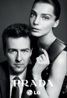 The Prada LG Phone Brings Edward Norton and Daria Werbowy Together (Forum Buzz)