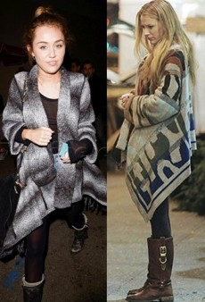 Coat Check: Celebs Love Blanket Coats
