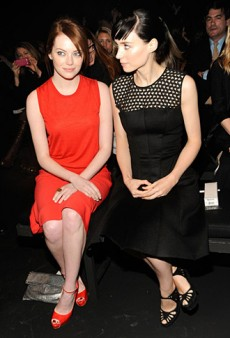 Emma Stone and Rooney Mara in Calvin Klein's Front Row (Forum Buzz)