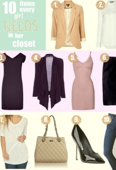 Back to Basics: 10 Items Every Girl Needs in Her Closet
