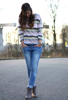 Forum Street Style: Printed Pants, Stripes, and Solids