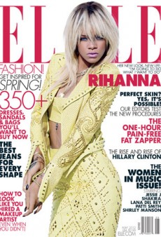 Rihanna Covers Elle, Wears Versace, Talks About Boys