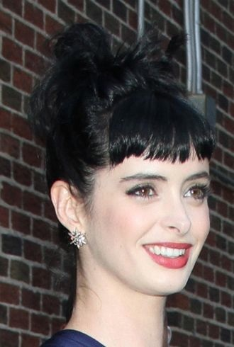 Krysten Ritter at The Late Show with David Letterman New York City cropped