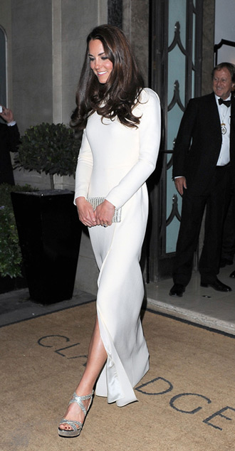 Kate Middleton in Roland Mouret and Jimmy Choo shoes