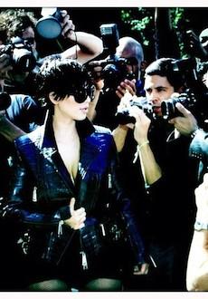 Kanye West Stopped By Kim Kardashian's L'Uomo Vogue Shoot
