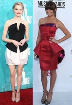 Fashion Origami: Chrissy Teigen, Emma Stone and Other Celebs Wear 3-D Folds