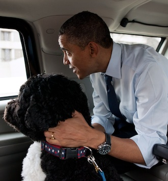 Barack and Bo