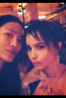 Alexander Wang Debuts Zoe Kravtiz's Chopped Hair and Other Celeb Twitpics of the Week