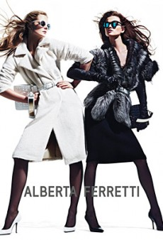 Eniko Mihalik and Kasia Struss Get Their Pose On for Alberta Ferretti Fall 2012 (Forum Buzz)