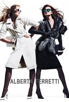 Eniko Mihalik and Kasia Struss Get Their Pose On for Alberta Ferretti Fall 2012 (Forum Buzz)