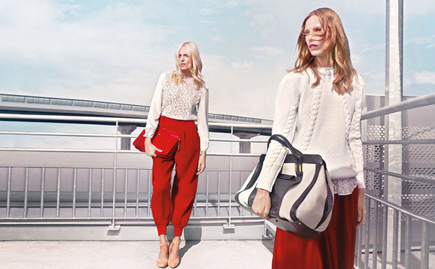 Chloé Fall 2012 ad - Anja Rubik and Suvi Koponen