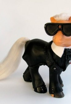 Karl Lagerfeld Gets the My Little Pony Treatment