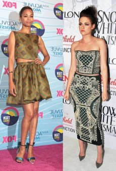 Kristen Stewart and Other Celebs Show Some Skin in Chic Two-Piece Ensembles