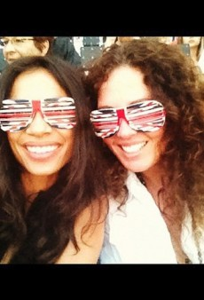 Rosario Dawson at the Olympics and Other Celeb Twitpics of the Week