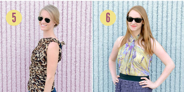 6 Ways to DIY a Scarf Into a Shirt — No Sewing Required - theFashionSpot