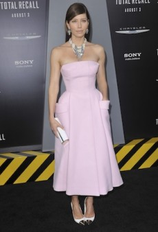 Raf Simons' Dior Couture Makes Yet Another Red Carpet Appearance, This Time On Jessica Biel