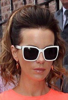 Look of the Day: Kate Beckinsale Turns Up the Brights in H&M and Diane von Furstenberg