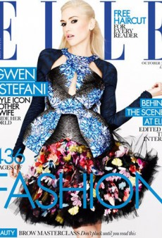 Gwen Stefani Gives Us the Blues on the Cover of Elle UK's October Issue (Forum Buzz)