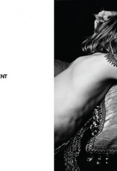 There's Just One Thing Missing from Hedi Slimane's First Saint Laurent Paris Ad: Like, Clothing