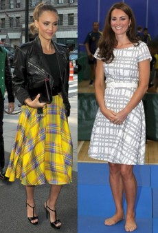 Get Mad for Plaid Like Jessica Alba, Duchess Kate, and Sarah Jessica Parker