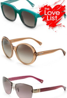 Coach Sunwear Collection: The Love List