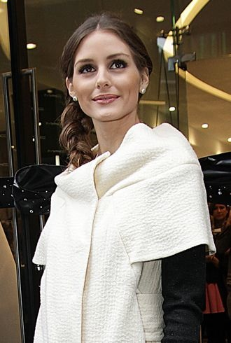 Look Of The Day Olivia Palermo Cuts Ribbon In Emily D