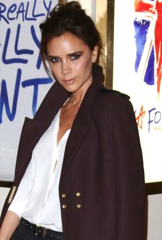 Victoria Beckham VIVA Forever Spice Girls the Musical London cropped