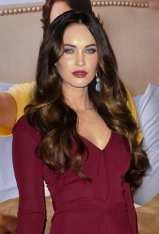 Look of the Day: Megan Fox's Burgundy Roland Mouret Darch Dress