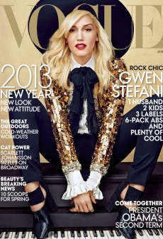 Gwen Stefani Covers the January Issue of Vogue in Saint Laurent Paris (Forum Buzz)