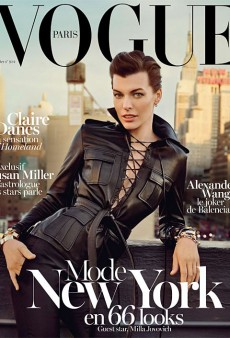 Milla Jovovich Covers the February Issue of Vogue Paris (Forum Buzz)