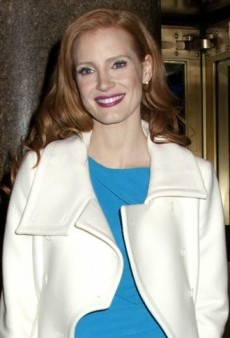 Look of the Day: Jessica Chastain Looks Lovely Leaving Late Night in Roksanda Ilincic and Michael Kors