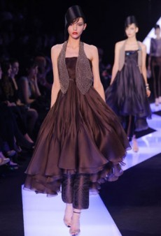 Armani Prive Haute Couture Spring 2013: Jewel Encrusted Peplums and More Luxury