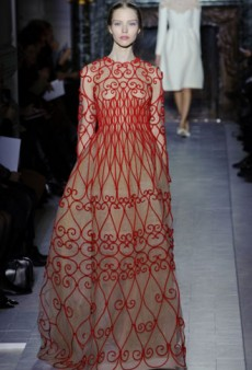 Valentino Haute Couture Spring 2013: Red, Embroidery and Vintage Make for Winning Looks