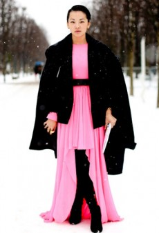 Even Snow Can't Stop Parisian Chic: Haute Couture Street Style Overload