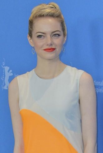 Emma Stone 63rd Berlin International Film Festival photocall The Croods cropped