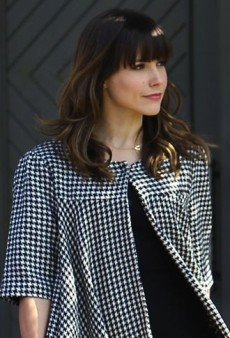 Look of the Day: Sophia Bush Visits the Salon in Miss Davenporte and American Apparel