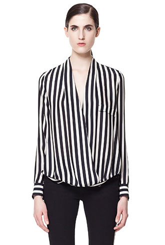 Zara striped blouse - forum buys