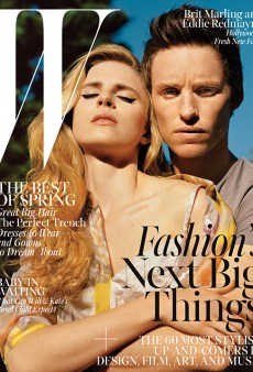 Brit Marling and Eddie Redmayne Grace W's April Cover (Forum Buzz)