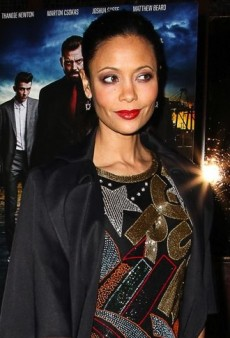 Look of the Day: Thandie Newton Flashes Back to the 80s in Swee Lo