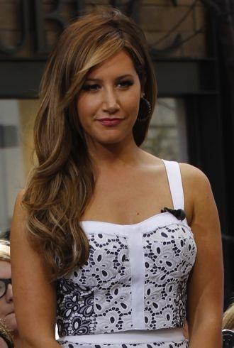 Ashley Tisdale appearing on Extra Los Angeles cropped
