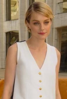 Jessica Stam Goes Minimalistic in Menswear-Inspired Thom Browne Dress